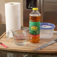 DIY Refillable Cleaning Wipes. No supplies to clean your counter? Wipe away your tears and refill your cabinets with these homemade wipes.