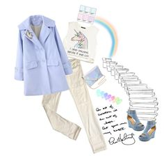 """Art Gave Me My Heart'"" by dianefantasy ❤ liked on Polyvore featuring Levi's, Forever 21, pastels, polyvoreeditorial and rainbowstyle"