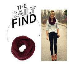"""""""Daily Find: BCBG Chunky Loop Scarf"""" by polyvore-editorial ❤ liked on Polyvore featuring BCBGMAXAZRIA and DailyFind"""