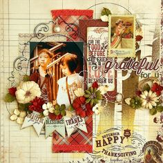 Scrapperlicious: Grateful For U Layout by Irene Tan using Clear Scraps mascils, acrylic frame