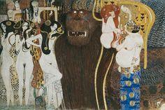 Beethoven Frieze (detail) by Gustav Klimt, 1902. (via Flickr)