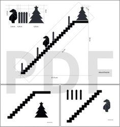 Adventskalender Treppe mit Figuren aus Holz selber basteln - DIY