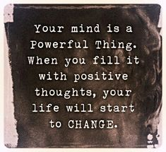 Never underestimate the power of your own thoughts - your conscious mind influences your subconscious mind, so fuel it with GOOD JUJU!  http://blog.worldwidesolutionz.com/spreading-the-positivity-day-5/