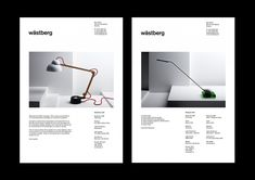 Identity for the lighting company Wästberg connection with the 2008 Stockholm Furniture Fair. Name, logotype, typography, posters, press handouts, product sheets, packaging, product folder, lamp labels, display case and more. Photographs: Philip Karlberg. Poster: 680x960 mm, offset. Folders: 243x344 mm, letterpress, 2007–08.