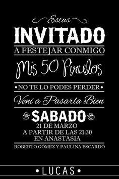 Tarjeta cumpleaños de 50  #50 #Party #Birthday: