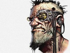 cyberpunk http://www.pinterest.com/mhendriks404/comic-art-1-creatures-characters/