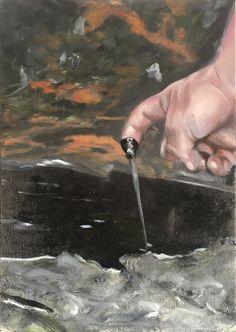 Markus Boesch - hand at the source 30 cm x 40 cm Oil on Canvas www.markusboesch.net