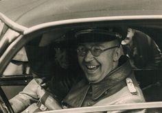 Himmler having a laugh 1941 - Heinrich Himmler in his dual capacities as Chef der Deutschen Polizei (Chief of German Police) and Reichsführer-SS Hassan 2, Nuremberg Trials, Germany Ww2, Story Of The World, The Third Reich, Luftwaffe, Historical Photos, World War Ii, Wwii