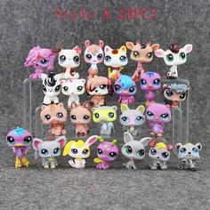 24pcs/set 4-5.7cm Anime Cute Animals Q Pet Shop Cake Toppers Terrarium Action Figure Collection Toys Scale Models Kids Toys Girl Dolls Gifts by MsDIYSupplies on Etsy