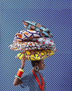 A bit too African but the vibrancy of the colors and blues and patterns is bow bow