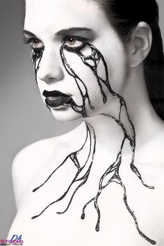 Photoshoot based on moodboard idea from model Model: Femke, Photo: Douwe Attema, Make Up: Paintman Richard