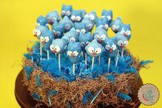 Owl and Blue Bird Cake Pops Bird Cakes, Tweet Tweet, Blue Bird, Cake Pops, Yummy Treats, Cake Ideas, Fun Crafts, Cake Decorating, Birthday Parties