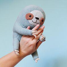 Ollie The Sloth PDF Cuddly Amigurumi Crochet Pattern Chain Stitch, Slip Stitch, Amigurumi Patterns, Crochet Patterns, Crochet Sloth, Crochet Toys, Free Crochet, Amazing Animals, Crochet Fall
