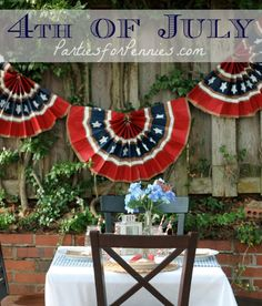 4th of July Decorations Using Paper Bags by PartiesforPennies.com