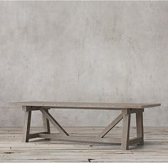 RH's Salvaged Wood Beam Rectangular Extension Table:Our salvaged beam wood tables are handcrafted of unfinished, solid salvaged pine timbers from 100-year-old buildings in Great Britain.