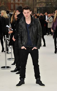 WANT! Jeremy Irvine wearing Burberry at the Burberry Prorsum Womenswear Autumn/Winter 2012 show #LFW