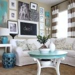100 different living rooms decorated on a budget