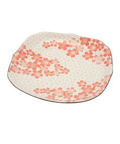 Look at this #zulilyfind! Red Cherry Blossom Dinner Plate #zulilyfinds