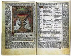 1498.DESIGN (french) - Philippe Pigouchet's Horae Beatus Virginis Mariae (Hours of the Blessed Virgin Mary). Dense, complex, ornamentation was typical of Pigouchet's design.