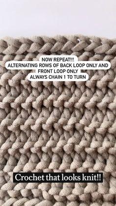 Easy Crochet Stitches, Crochet Stitches For Beginners, Crochet Motif, Crochet Designs, Knit Crochet, Crochet Summer, Stitch Patterns, Knitting Patterns, Crochet Patterns