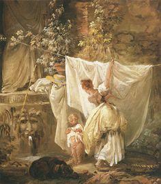 Hubert Robert - the laundress and her child, 1761.