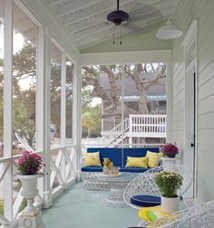 SHELTER - loving the sunny colorful porch.