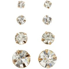 4 pairs earrings 21 AED ($3.99) ❤ liked on Polyvore featuring jewelry, earrings, earring jewelry, h&m jewelry, h&m earrings and earrings jewellery