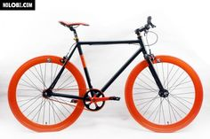 black orange and single Speed Bike, Bicycle, Cool Stuff, Vehicles, Black, Orange, Inspiration, Products, Veils