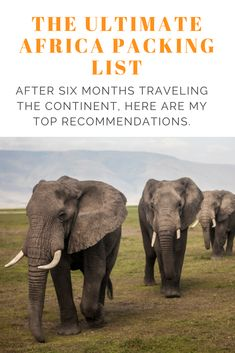 A useful list of items to pack for a long-term trip to Africa.  Written after lots of trial-and-error during my six month trip around the continent.   #Africa #Backpacking #packing #safari