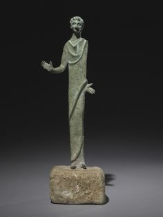 Male Votive Figure, 300s BC Italy, Etruscan, 4th Century BC  bronze