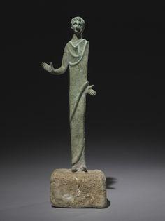 Male Votive Figure, 300s BC Italy, Etruscan, 4th Century BC  bronze