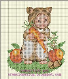 creaciones FOG: colección bebés disfrazados en punto de cruz: bebé...