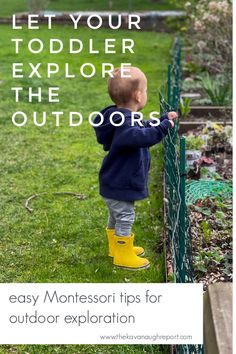 Easy, free tips for allowing toddlers to get outside and explore. These Montessori parenting tips balance the need to move with safety concerns. Montessori Toddler, Toddler Activities, Plant Identification, Practical Life, Tot School, Free Tips, Toddler Fun, Child Safety, Get Outside