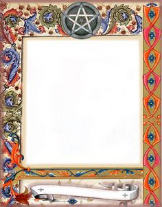 Book of Shadows:  #BOS graphic pages, by Grim of Cauldron Craft Oddities, © 2013.