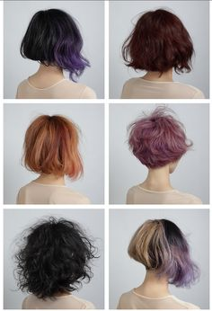 Unique and choppy hairstyles for those who love color! #hair #purplehair #beauty