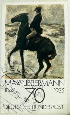 Max Liebermann, Germany German Stamps, Horse Posters, Rare Stamps, Postage Stamp Art, Painter Artist, Horse Art, Mail Art, Stamp Collecting, Germania