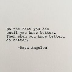 Maya Angelou Positivity Quote Typed on Typewriter - 4x6 White Cardstock