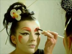 A different type of beautiful. Modern Geisha Makeup Tutorial.