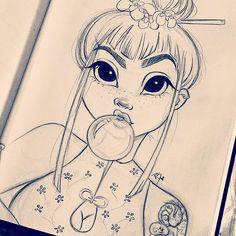 Buenas Noches! おやすみ! Bonsoir! 잘자요~  . . . #art #artist #goodnight #잘자요 #buenasnoches #bonsoir #おやすみ #sketch #illustration #drawing #drawings #artwork #disney #style #raw #dope #bubblegum #instalove #love #happy #instamood #draw #inspiration #Godisgoodallthetime