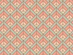 """Soft Art Déco"" by Tzadkiel apricot, art, beige, brown, déco, gentle, mint, muted, peach, pink"