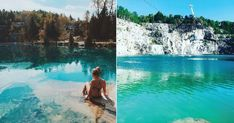 The perfect summer day trip from Ottawa: Swimming at Morrison's Quarry - Wakefield Quebec Beau Film, Road Trip Essentials, Road Trip Hacks, Wakefield Quebec, Tahiti, Swim Days, Morrison, Summer Goals, Swimming Holes