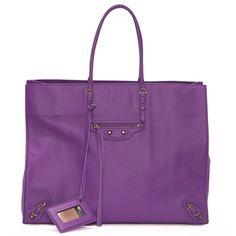 Papier A4 purple tote bag