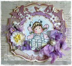 Tina's Magnoliablog: MAG paarse kaart Bijen