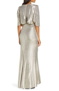 Eliza J Capelet Sleeve Ruched Evening Gown Evening Gowns Online, Capelet, Old Hollywood, Nordstrom, Glamour, Sleeves, Wedding, Dresses, Fashion