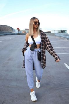 Cute Lazy Outfits, Trendy Fall Outfits, Baddie Outfits Casual, Sporty Outfits, Winter Fashion Outfits, Look Fashion, Stylish Outfits, Spring Outfits, Indie Outfits