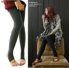 Free shipping + Hot selling / Thicker Cotton Knitted flexible Leggings / Ladies' fashion Leggings,seamless leggings Wholesale