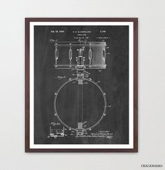 See the DRUMMING PATENT COLLECTION: https://www.etsy.com/listing/252966776/drum-patent-posters-drums-drum-art-drum?ref=shop_home_active_5