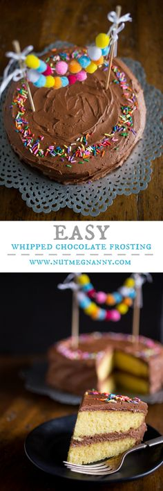 This easy whipped chocolate frosting is a chocolate lovers dream. Full of rich chocolate flavor and a fluffy texture. Perfect on cake, cookies or by the spoonful.