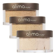 Alima Pure Satin Matte Foundation. Evens out skin tone & reduces appearance of fine lines & pores.