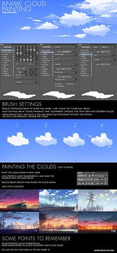 Ideas digital art tutorial photoshop brushes – New Trends Digital Painting Tutorials, Digital Art Tutorial, Art Tutorials, Photoshop Cloud, Cloud Tutorial, Tutorial Photoshop, Animation 3d, Sky Digital, Drawing Tips